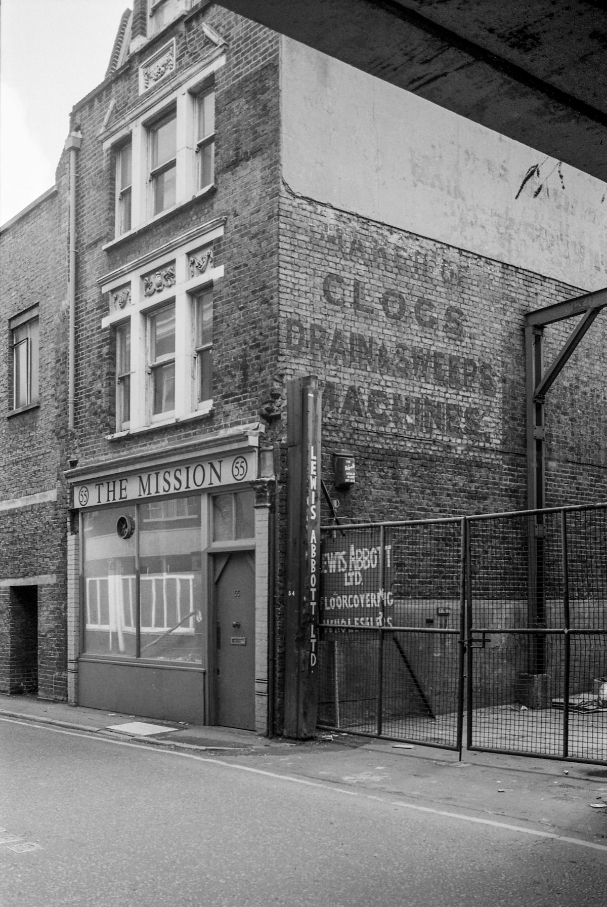 The Mission, Holywell Lane, Shoreditch, Hackney 1986