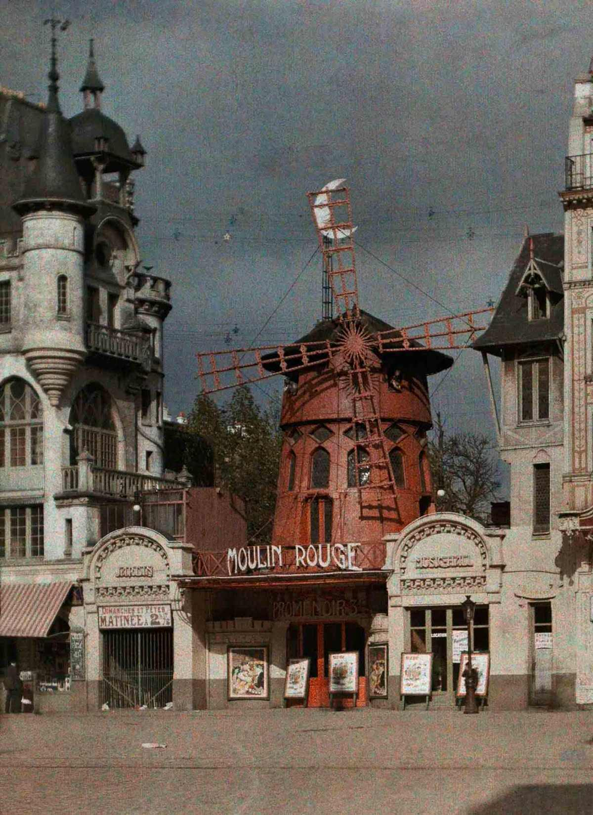 The Moulin Rouge nightclub at Montmarte.