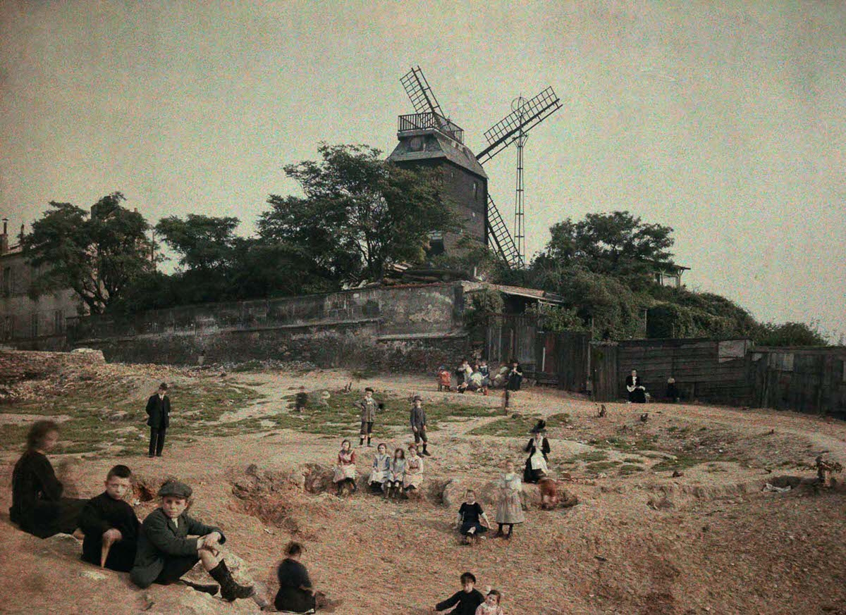 The Moulin de la Galette, or Mill of the Cake, at Montmartre.