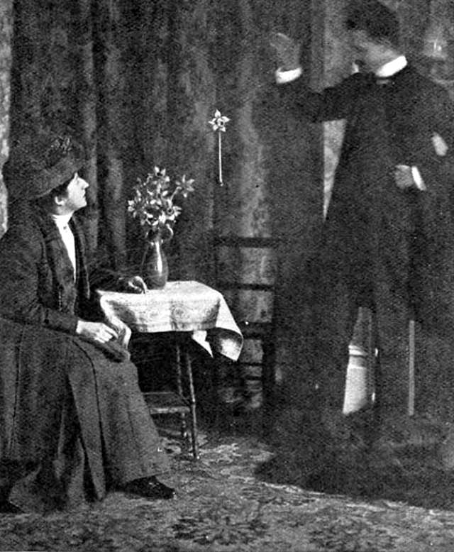 William Marriott demonstrating a levitation of an object with an invisible thread.
