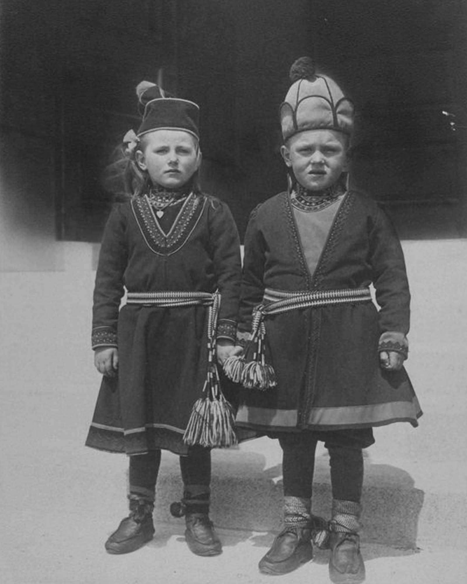 """Lapland children, possibly from Sweden."""" 1910."""