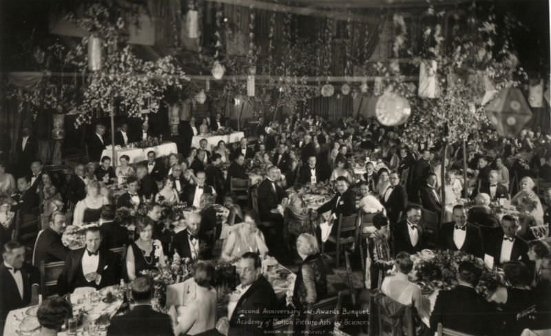 The 1st Academy Awards banquet, on May 16, 1929, at the Hollywood Roosevelt Hotel