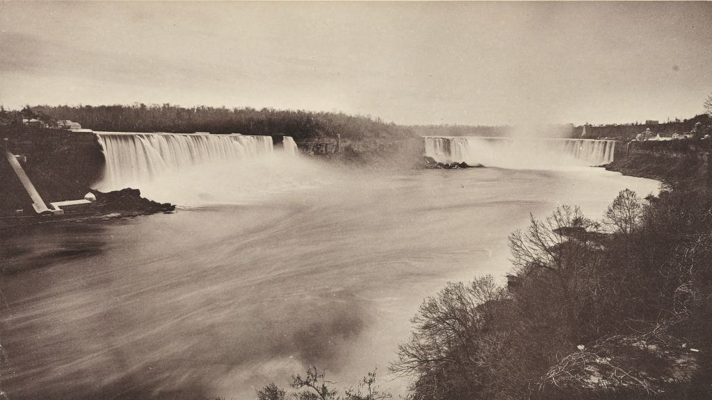 General view of Niagara Falls and Goat Island, 1880s.