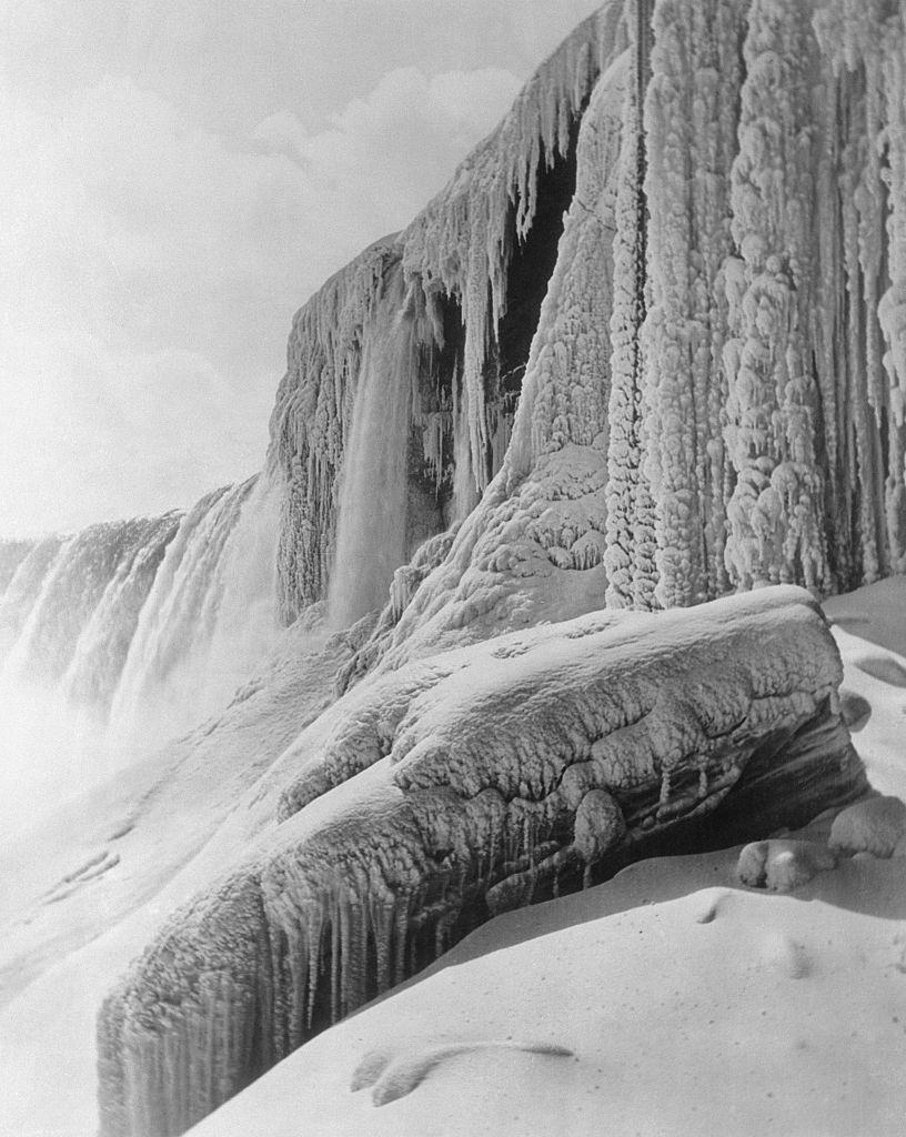 A Symphony in White. White water cascades with a never-ceasing roar, 1933.