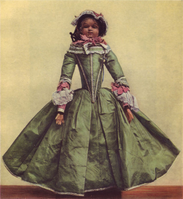 German doll of the rococo period.