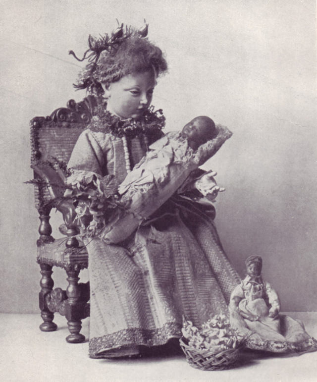 Child with doll; German, 18th century.