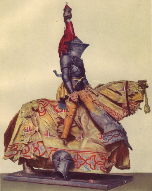 Knight in tourney array, bearing the arms of the patrician Nuremberg family, German, ca. 1520.