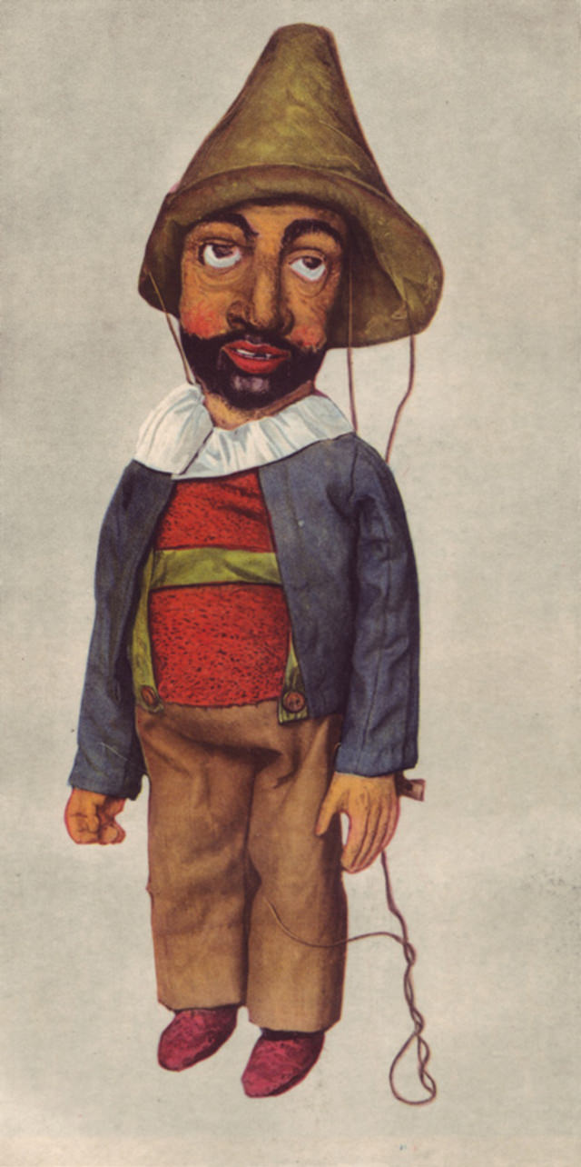 Kasperl from a marionette theater of the 18th century.