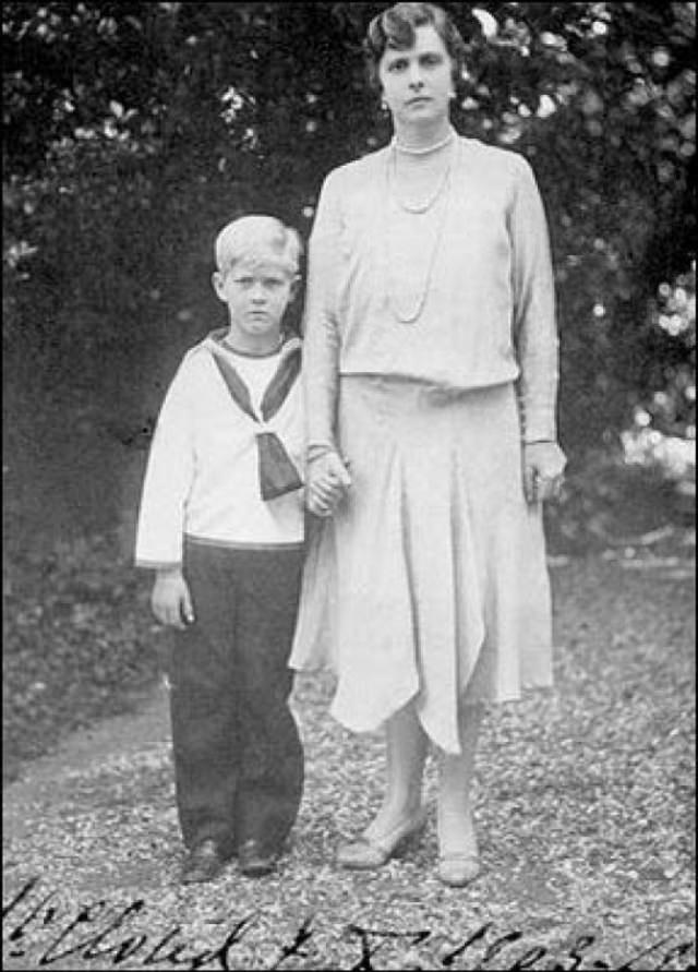 Philip with his mother, 1926.