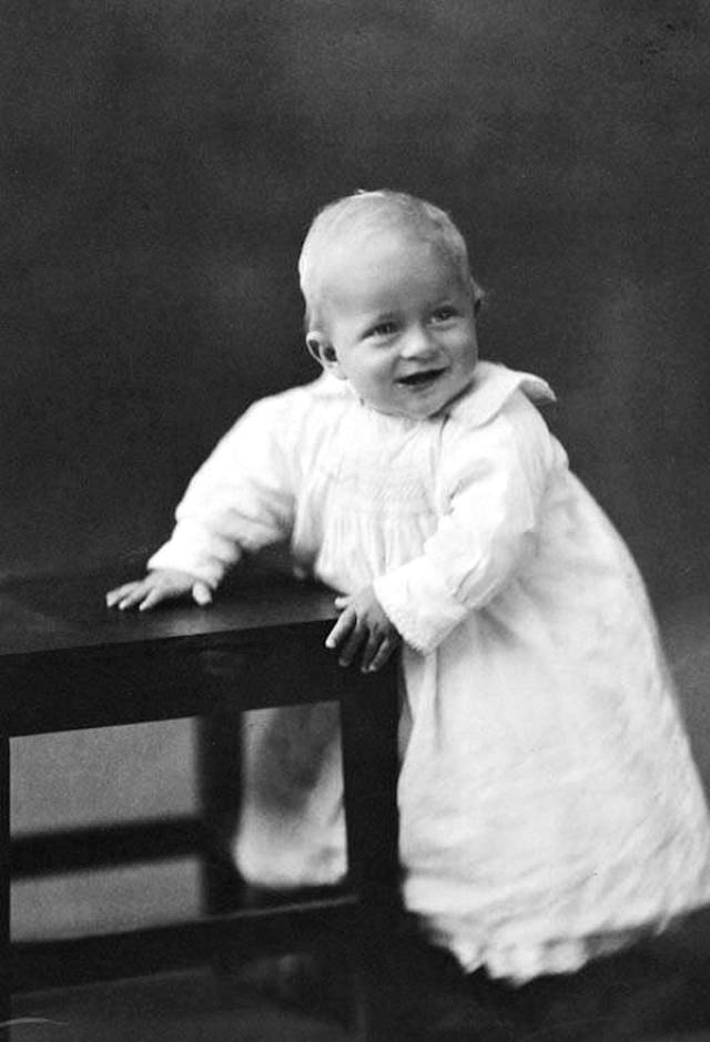 One year old, Prince Philip, 1922.