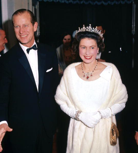Philip and the Queen arrive at a theater in Malta, 1967.