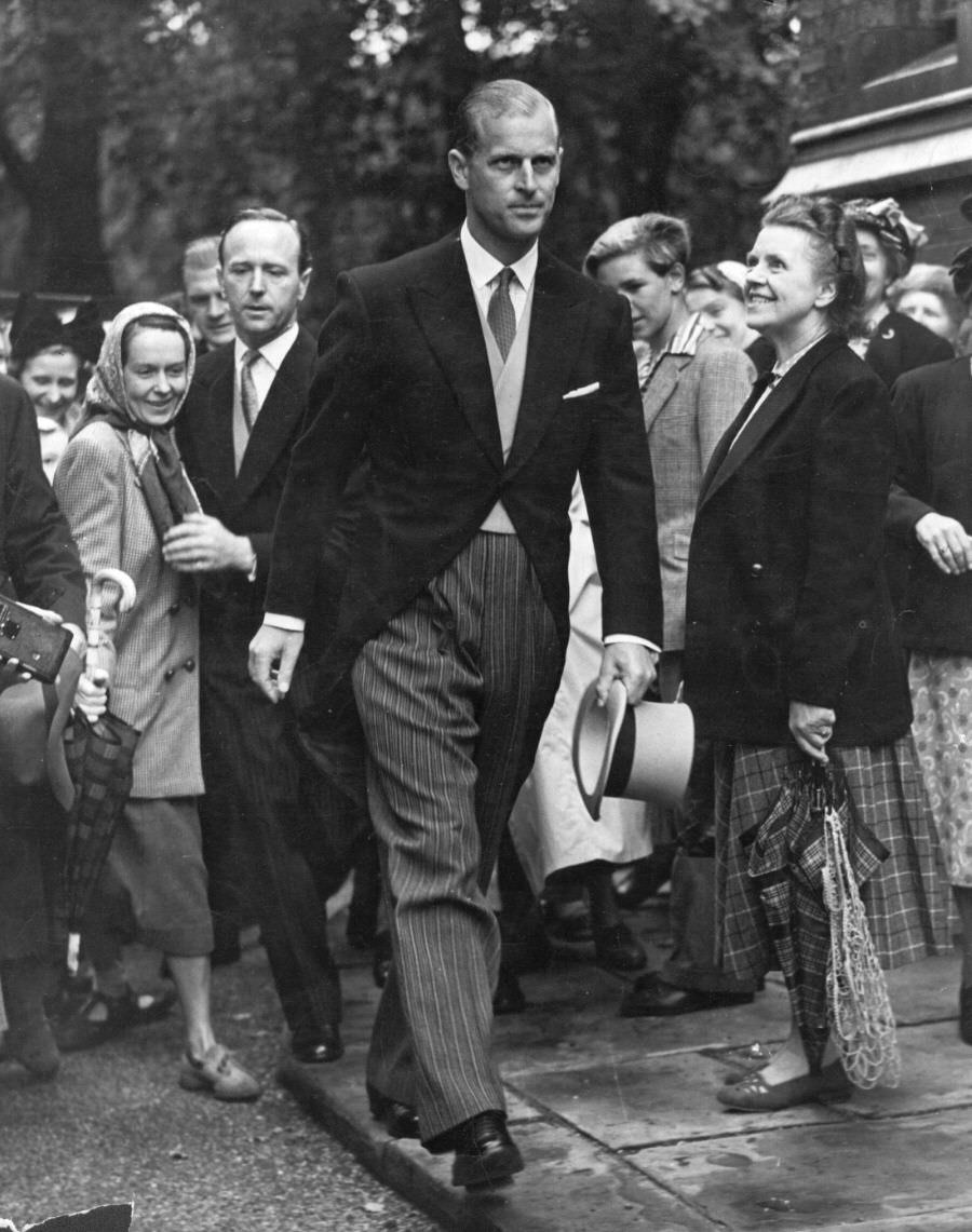 Prince Philip a wedding in London, 1951.