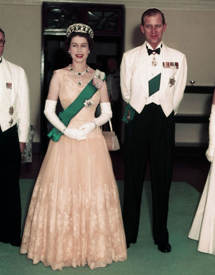 Prince Philip with Queen Elizabeth II on a Nigerian tour.