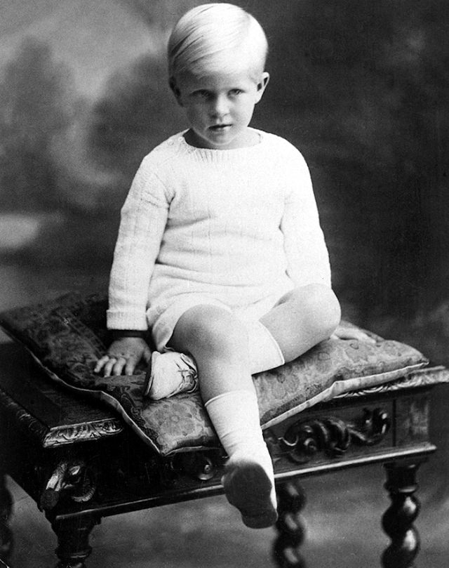 Prince Philip, when he was four.