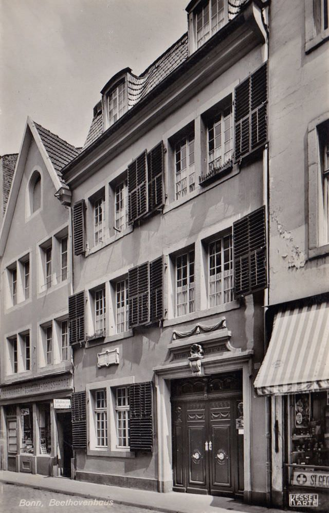 Beethoven's birthplace in the old town of Bonn, 1930