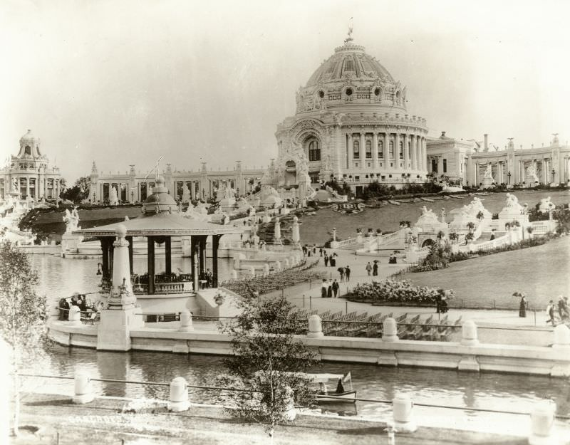 Festival Hall, Cascades and Lagoon at the 1904 World's Fair seen from the northwest, 1904
