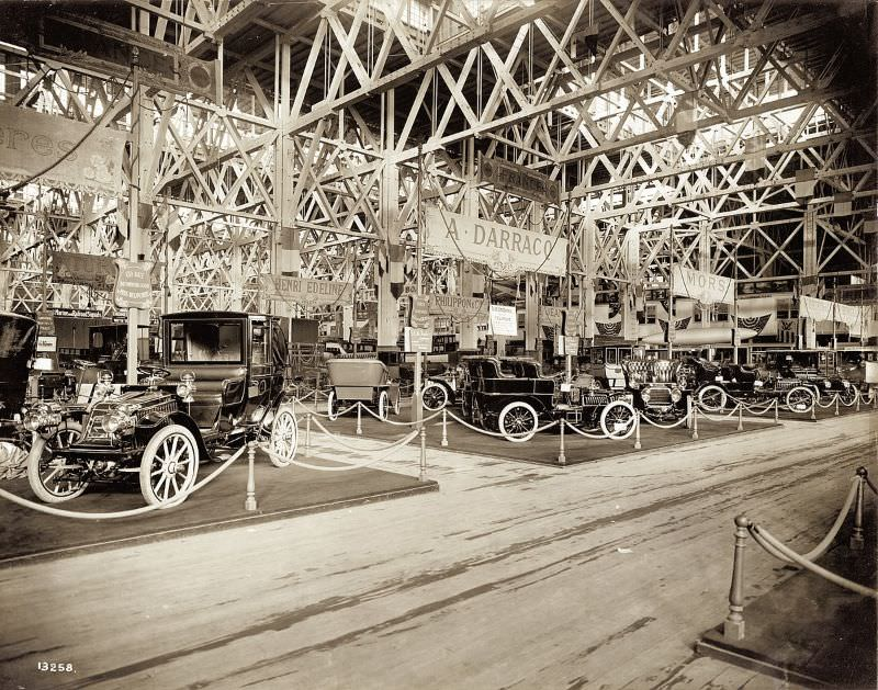 French Auto Exhibit in the Palace of Transportation at the 1904 World's Fair, 1904