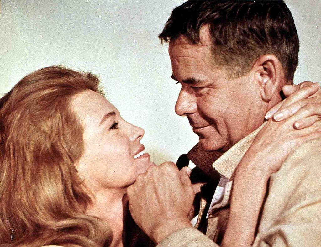 Angie Dickinson with Chad Everett in 'The Last Challenge', 1967.