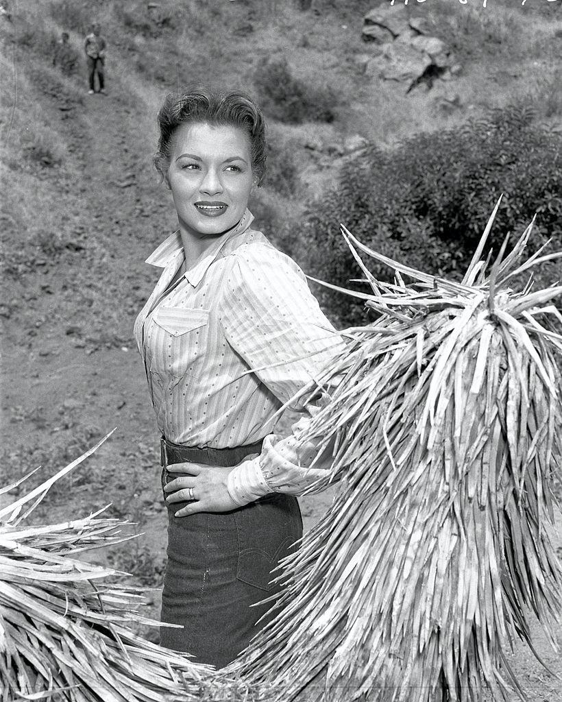 Angie Dickinson poses in character for the episode 'Moment of Vengeance', 1956.