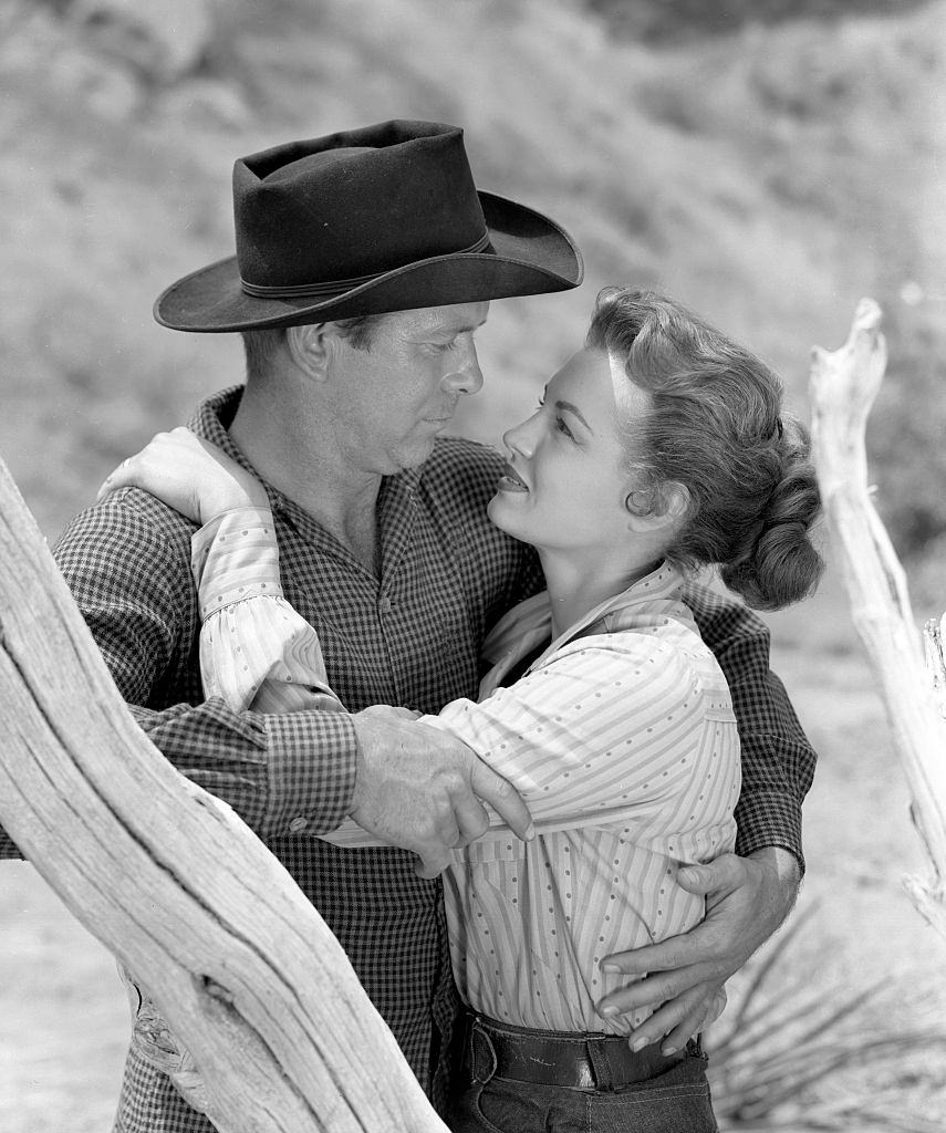 Angie Dickinson with Gene Nelson in CBS 'Schlitz Playhouse of Stars', 1955.