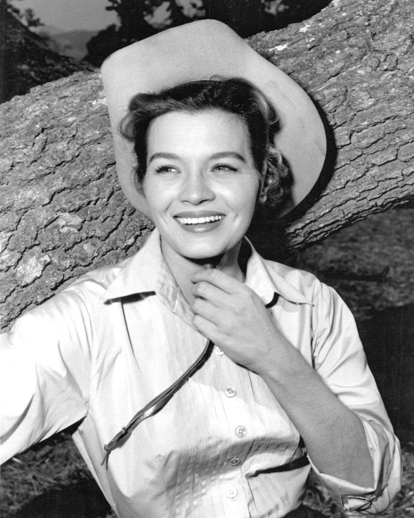 Angie Dickinson in a publicity still for the western 'Rio Bravo', 1959.