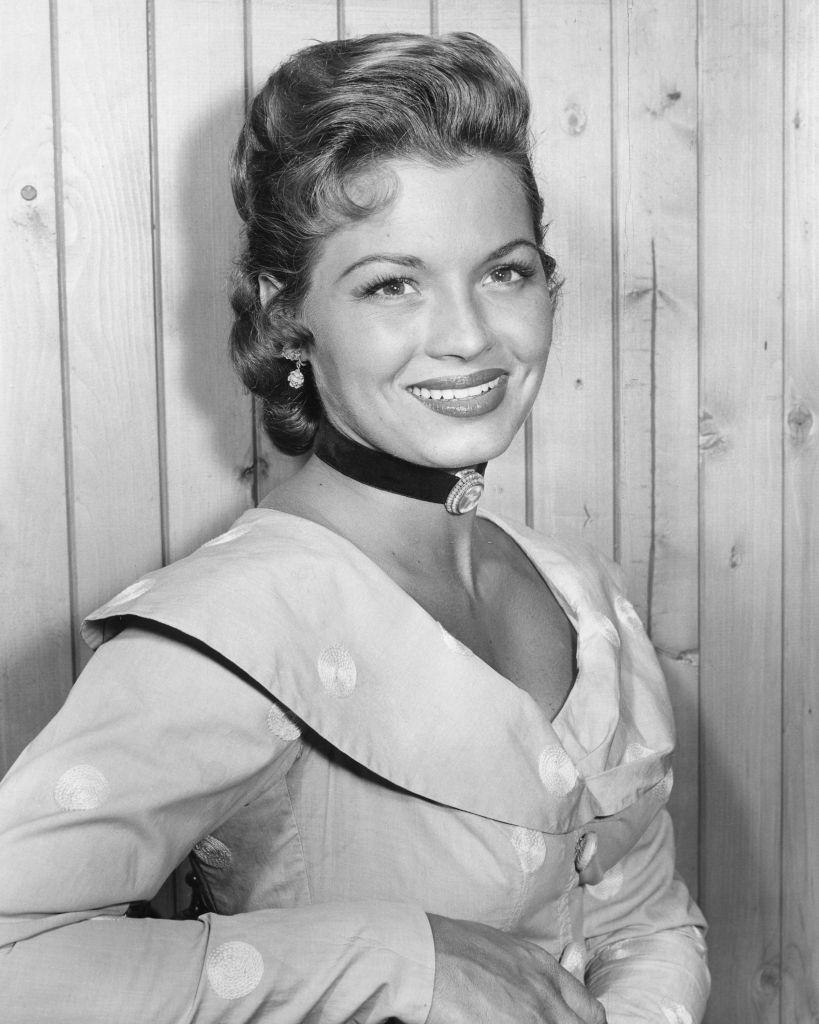 Angie Dickinson as Terry Weaver in the television series 'Broken Arrow', 1956.