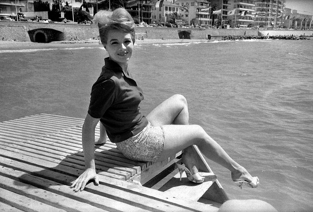 Angie Dickinson at Festival of Cannes, 1961.