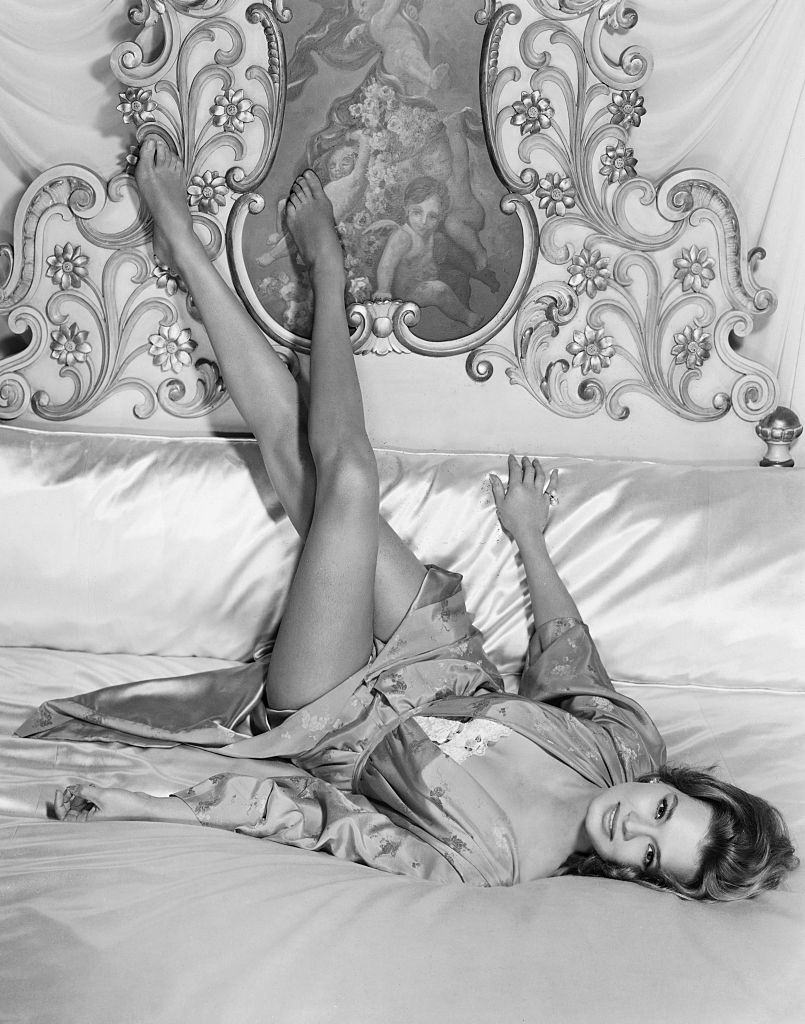 Angie Dickinson around the time of her appearance in the 1962 movie Rome Adventure.