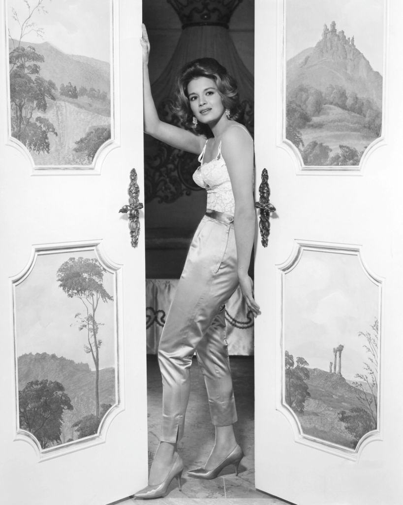 Angie Dickinson as Lyda Kent in the film 'Rome Adventure', aka 'Lovers Must Learn', 1962.