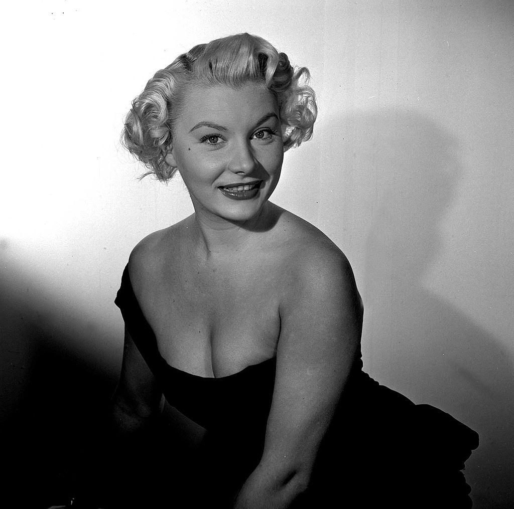 Barbara Payton during the filming of 'The 4-sided Triangle', 1952.