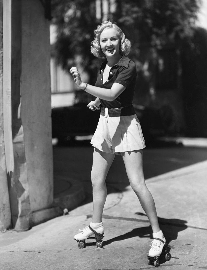 Betty Grable Roller Skating, 1937.