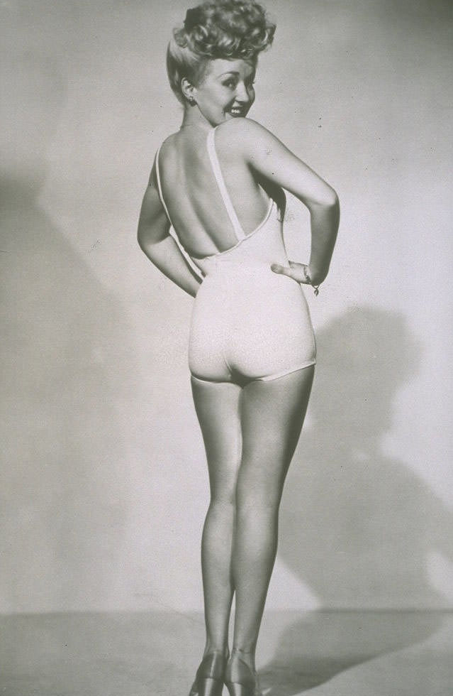 The famous pinup poster of Betty Grable, 1940s.