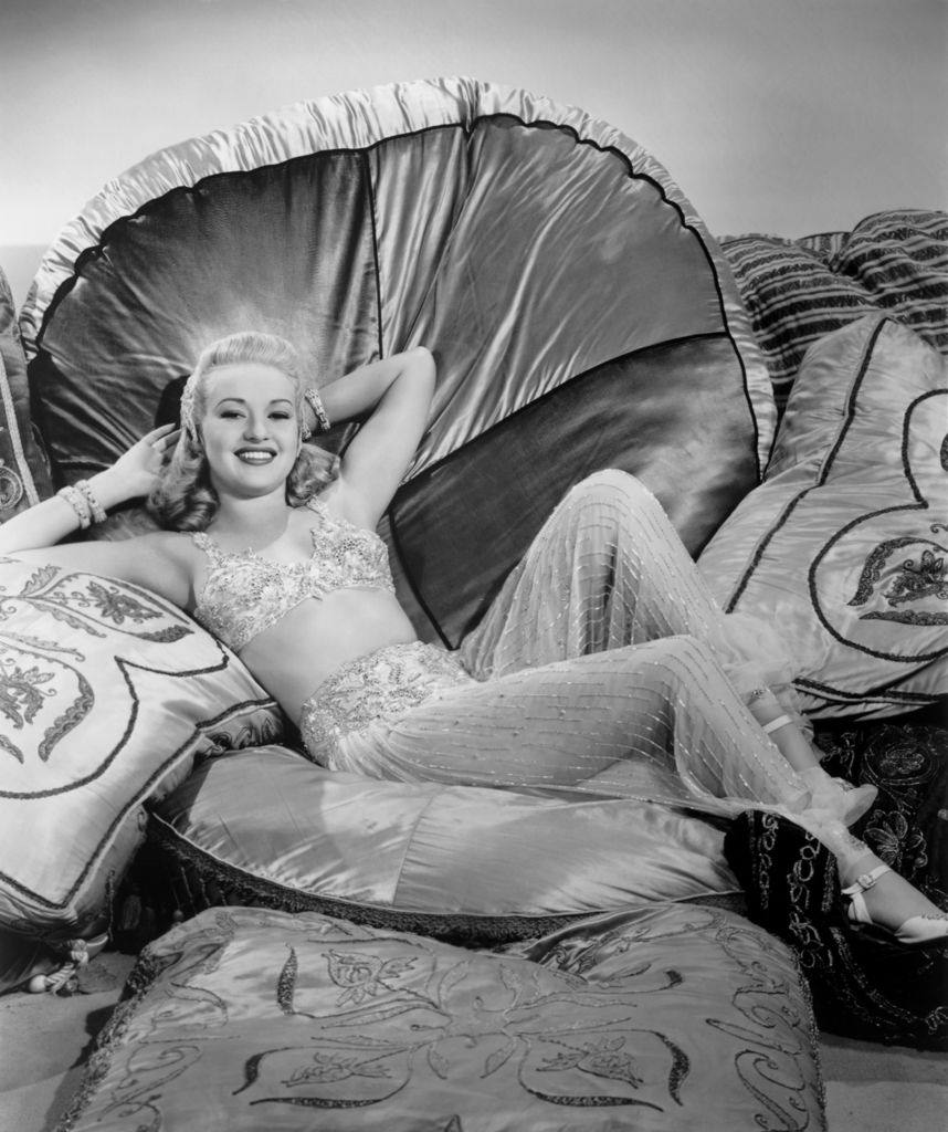 Betty Grable in a scene from the movie 'Tin Pan Alley', 1940.