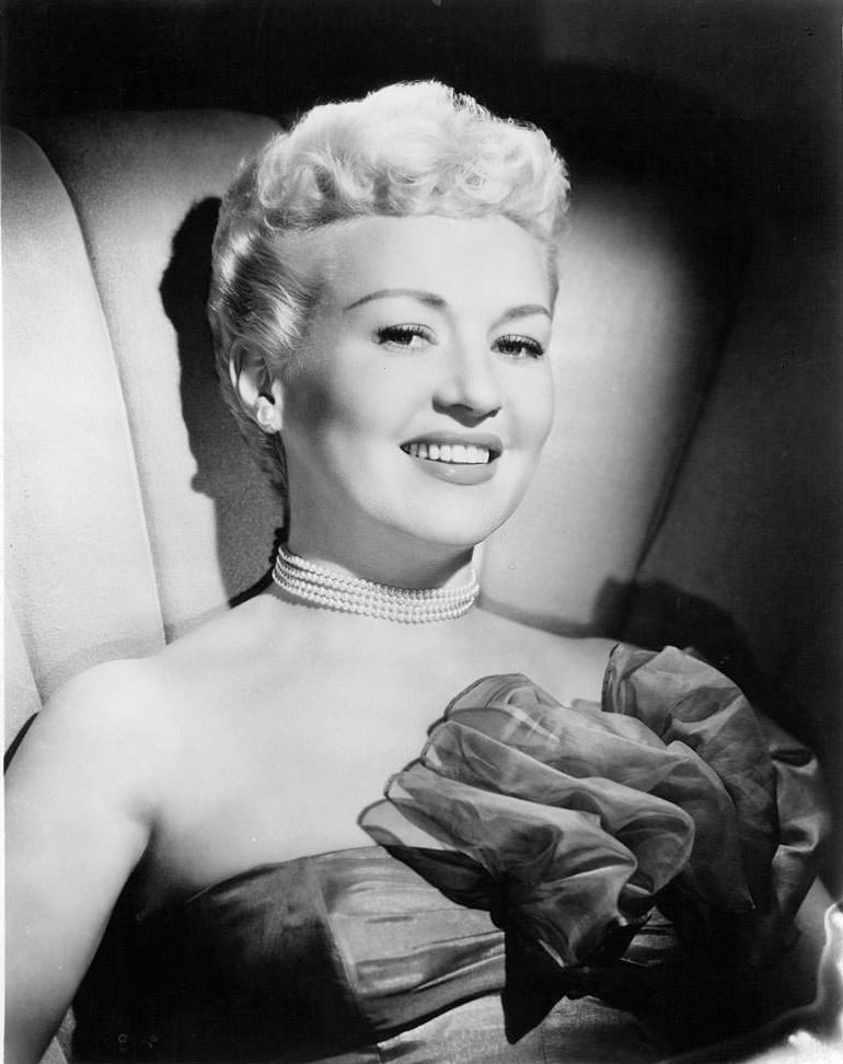 Betty Grable, 1950.