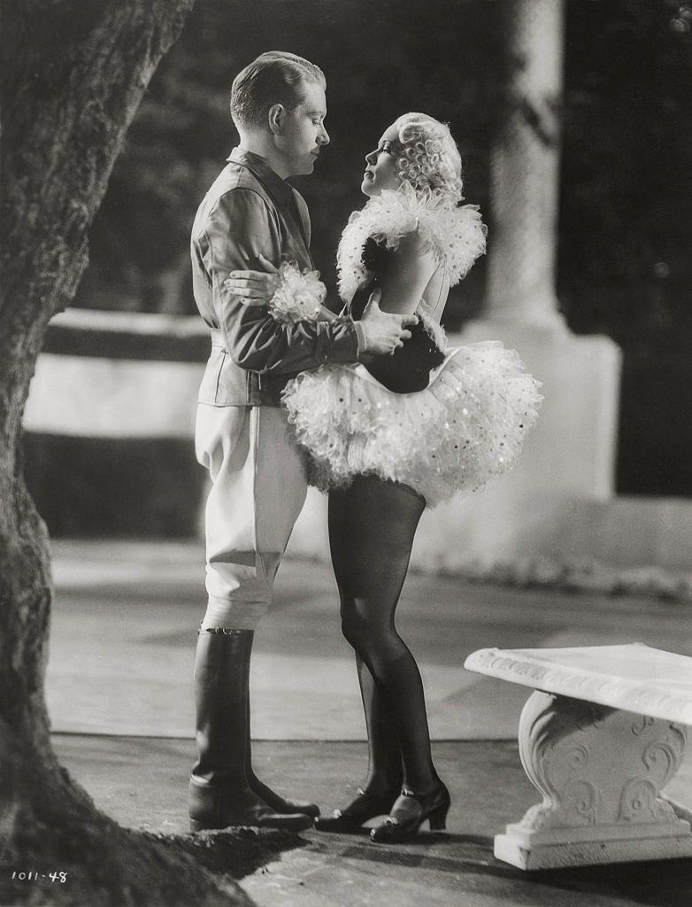 Eleanor Powell with Nelson Eddy in a scene from the film 'Rosalie', 1937.