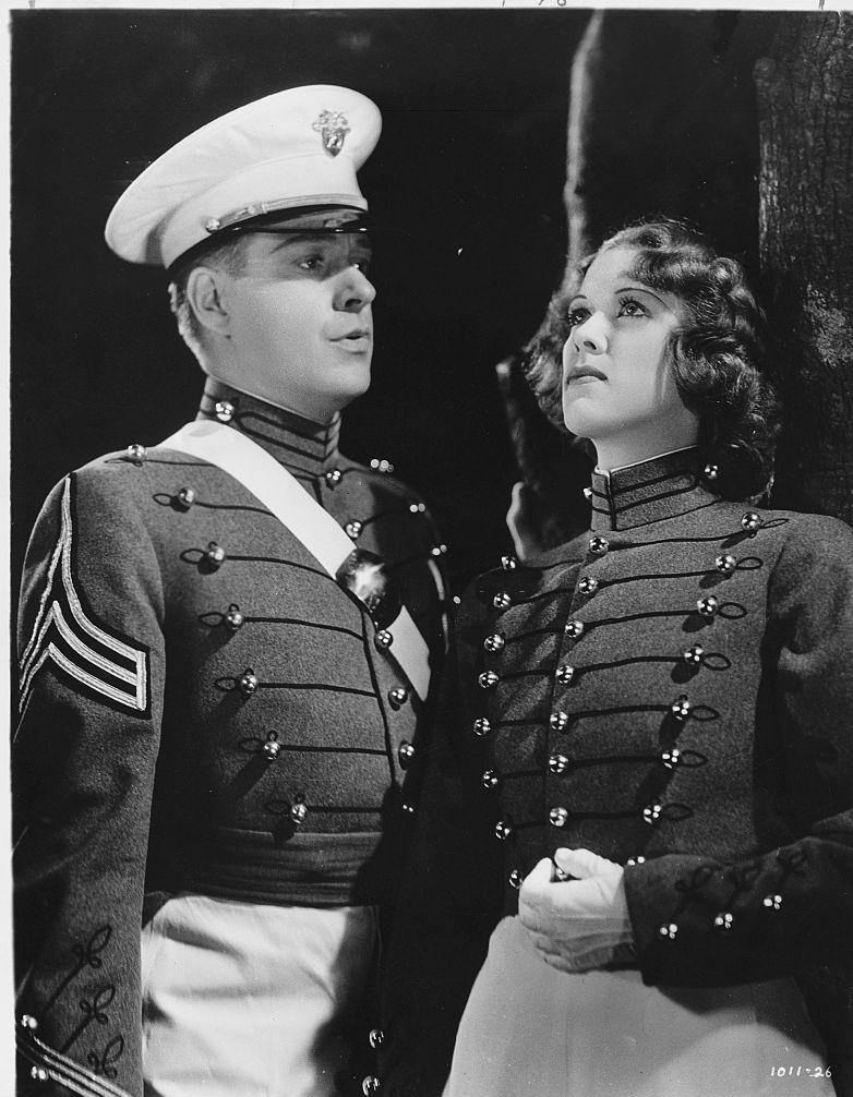 Eleanor Powell with Nelson Eddy, from the film 'Rosalie', 1937.