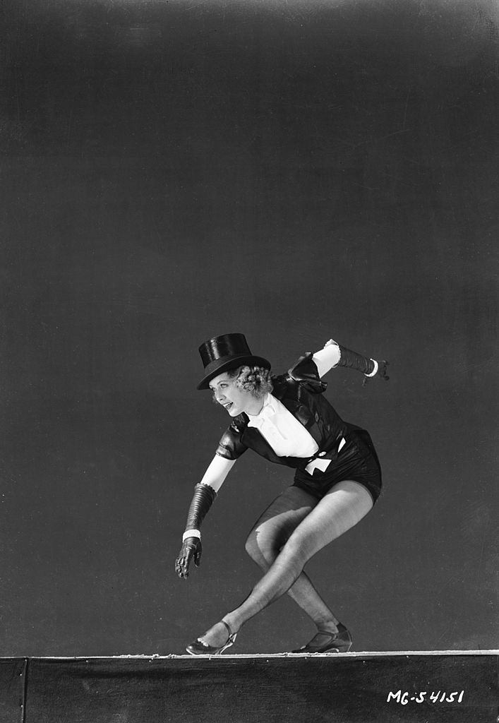 Eleanor Powell plays nightclub hoofer Nora Paige in the musical 'Born To Dance', 1936.