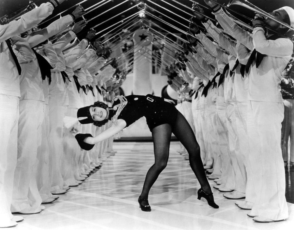 Eleanor Powell in a scene from the movie 'Born to Dance', 1936.