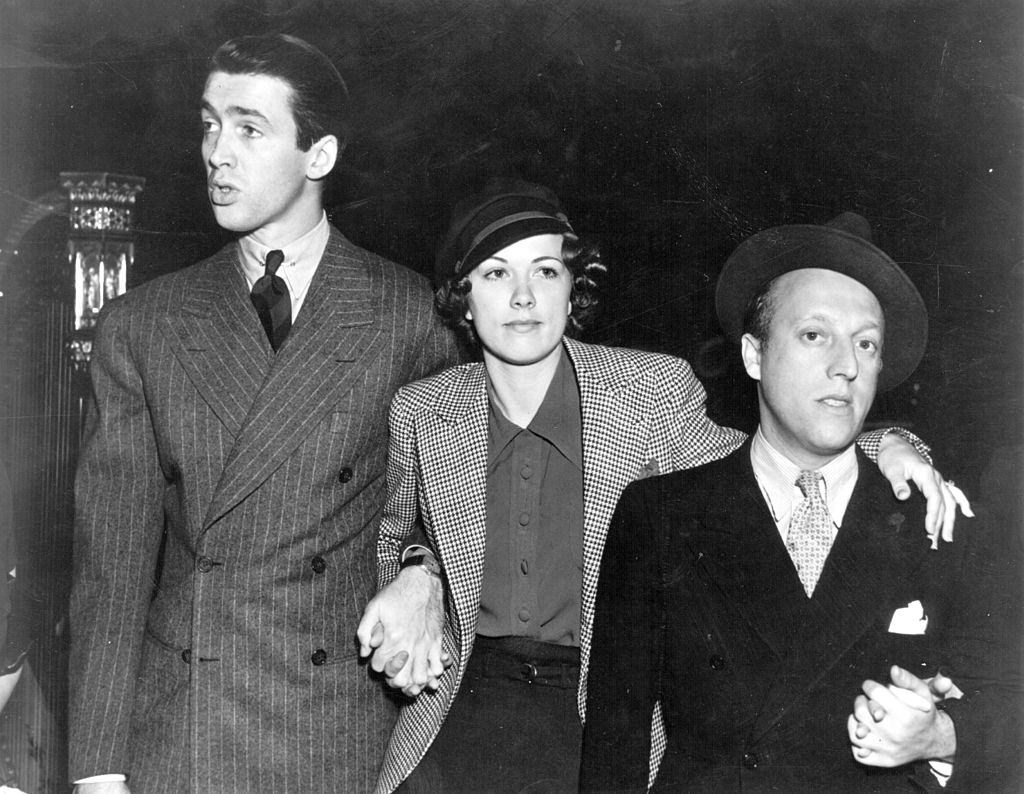Eleanor Powell with James Stewart and Sid Silvers, 1936.