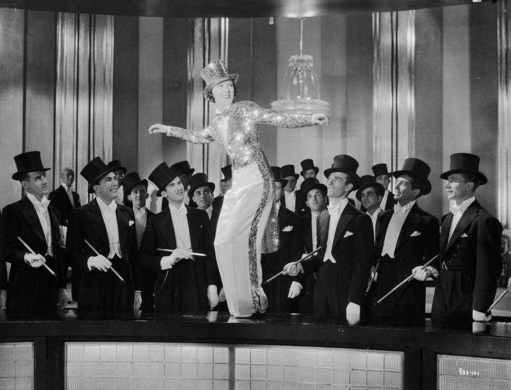 Eleanor Powell stars as tap-dancing sensation Irene Foster in the musical 'Broadway Melody of 1936'.