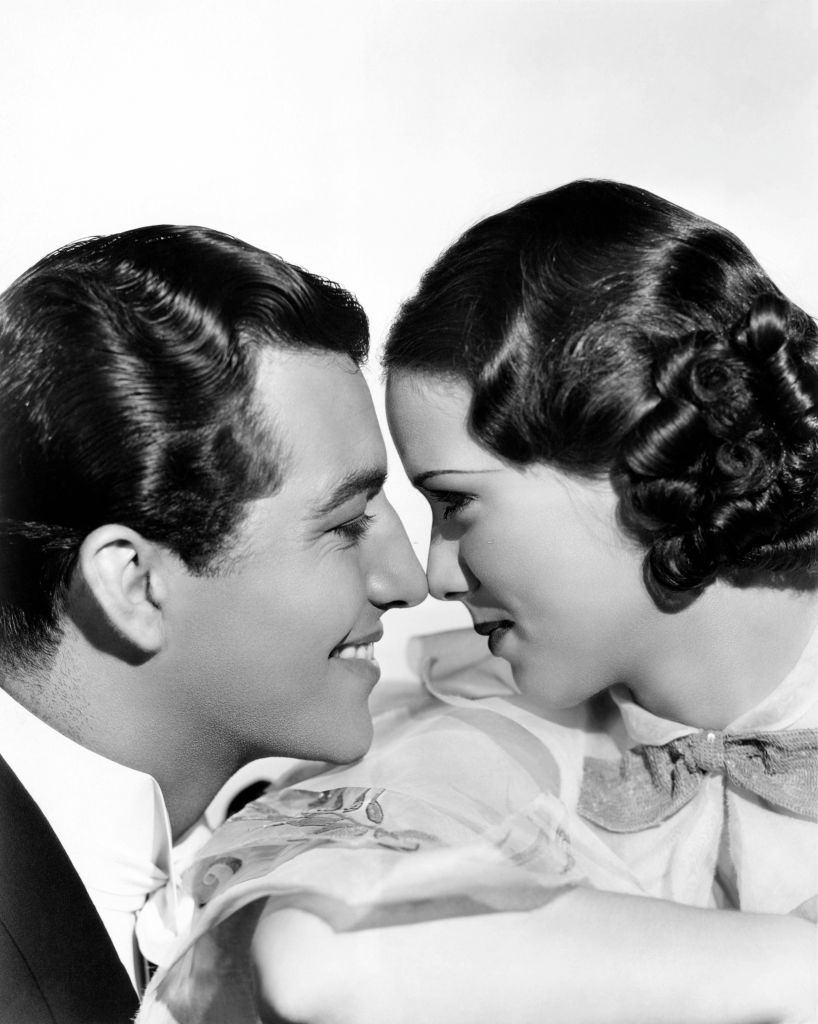 """Eleanor Powell and Robert Taylor in a scene from the movie """"Broadway Melody of 1936"""""""