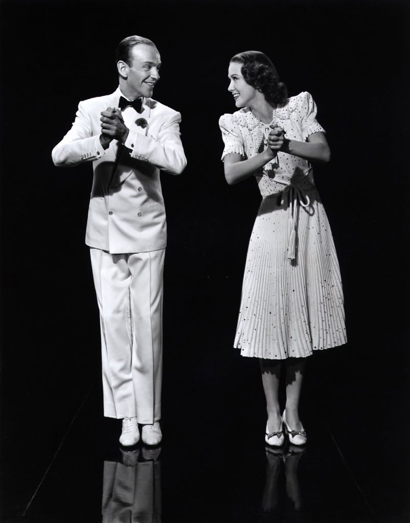 Eleanor Powell with Norman Taurog at 'Broadway Melody 1940'