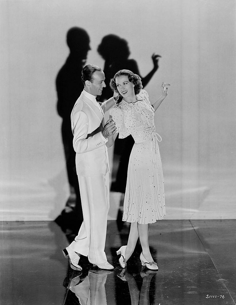 Eleanor Powell and Fred Astaire perform a dance together. From the 1940 film Broadway Melody of 1940.