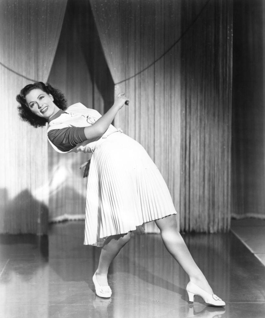Eleanor Powell in a scene from the movie 'Lady Be Good', 1940.