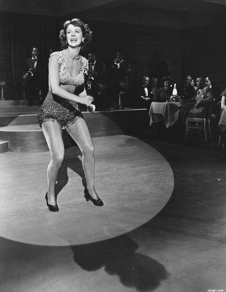 Eleanor Powell makes a cameo appearance in Duchess of Idaho, 1950.