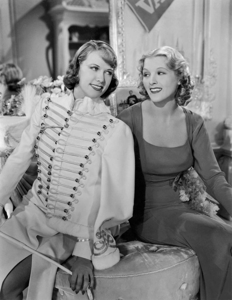 Eleanor Powell and Ilona Massey in a scene from the movie 'Rosalie', 1937.