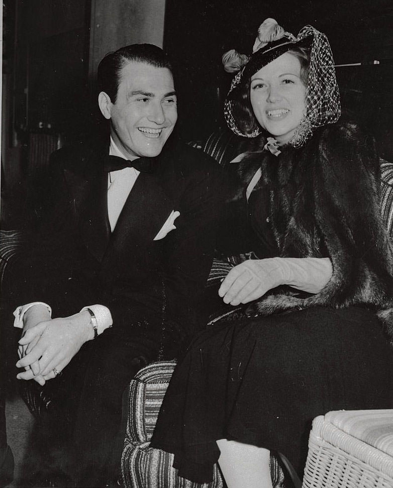 Eleanor Powell with Arite Shaw, 1939.