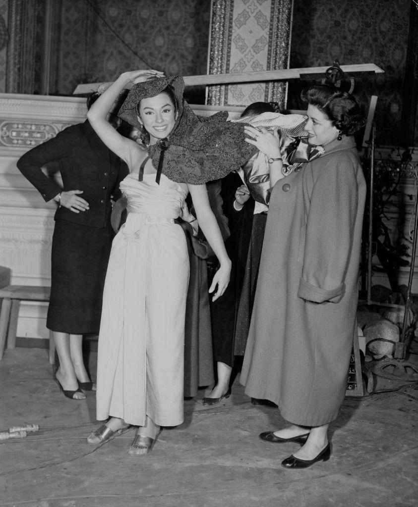 Rita Moreno is fitted for one of her costumes for the 20th Century Fox musical 'The King and I', 1955.