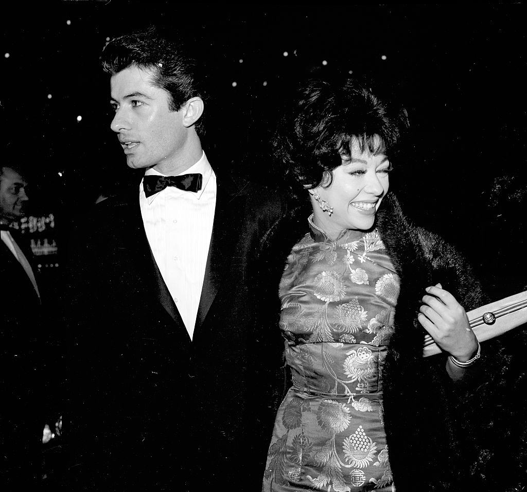 Rita Moreno and George Chakiris attend an event in Los Angeles, 1961.