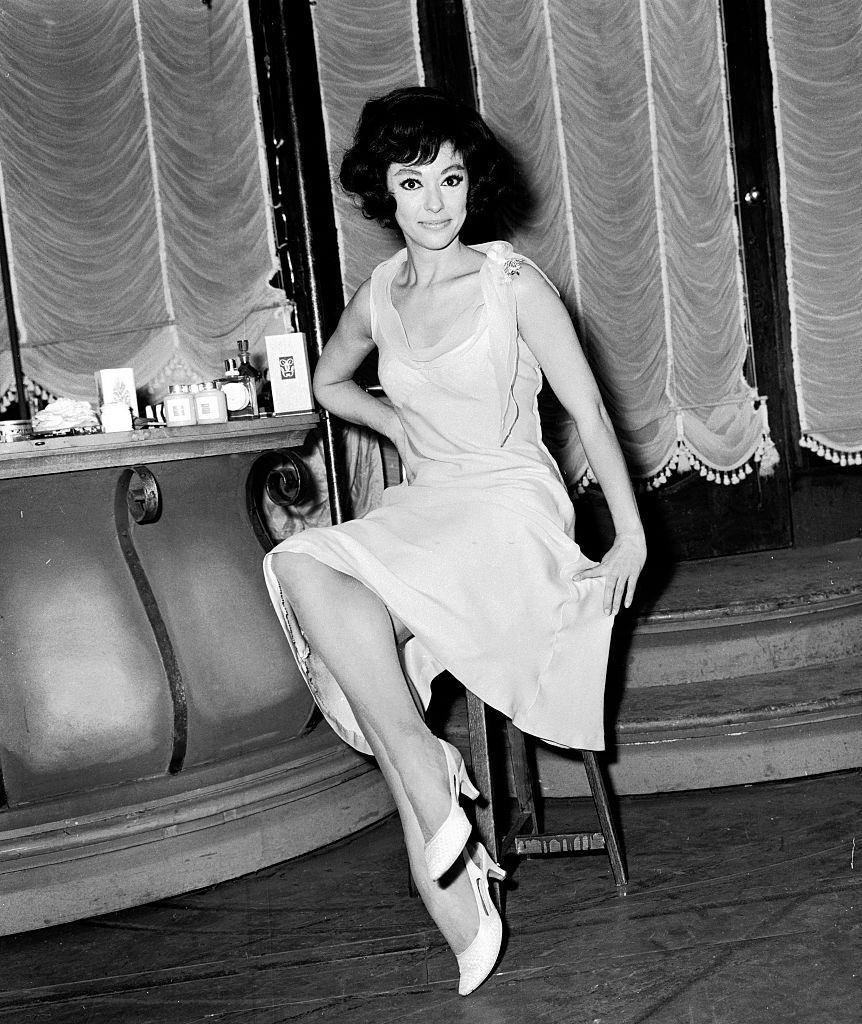 Rita Moreno in her dressing room before rehearsals at the Lyri, 1964.
